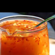 Sweet Thai Chili Sauce - http://thaifood.about.com/od/thaicurrypasterecipes/r/Easy-Thai-Sweet-Chili-Sauce-Recipe.htm