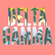 Spring Break | Palm Tree | Delta Gamma