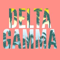 Spring Break | Palm Tree | Delta Gamma