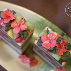 Water Lily and garden - handmade soap