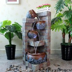 European-style interior decoration rockery water fountain terrace garden and living room floor Decoration Modern Waterscape rock Source by Water Fountain Design, Diy Fountain, Indoor Fountain, Design Fonte, Indoor Water Features, Deco Zen, Garden Water Fountains, Garden Waterfall, Outdoor Wall Art