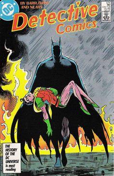 Detective Comics #574 - Batman and Robin (1987) by Alan Davis, inks by Paul Neary *
