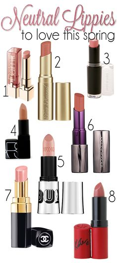 Great nude lippies I'm loving for spring! #followitfindit