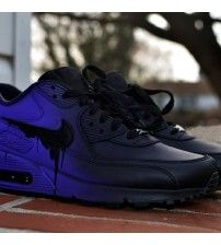 48d1c14369b Air Max 90 Candy Drip Gradient Black Purple Trainer Outlet Purple Trainers