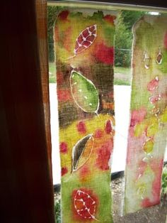 Easy Batik- fun art project to do with kids for decorating seasonally.
