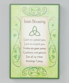Take a look at this Irish Faith Blessing Sign by Roman, Inc. on #zulily today!