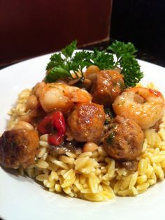 Shrimp & Sausage Orzo