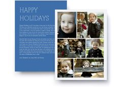 Letter Collage Holiday Photo Card & Photo Gifts   PinholePress.com