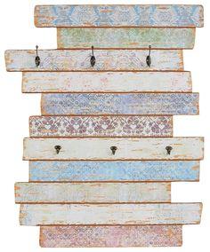 Artikeldetails:  Dekoratives Wandpaneel, Mit 6 Haken,  Maße:  Maße (B/T/H): 88/11,5/111 cm,  Material/Qualität:  Aus MDF,  ...