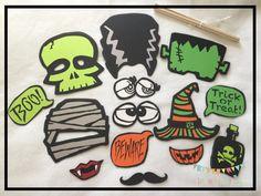 Halloween Photo Props Halloween Photobooth by ALittleBitOfAud