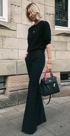 All-Black outfits for fall outfit classy стиль одежды, мода Classy Outfits, Fall Outfits, Casual Outfits, Fashion Outfits, Woman Outfits, Office Outfits, Looks Street Style, Looks Style, All Black Outfit For Work