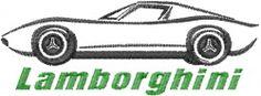 Lamborghini embroidery design