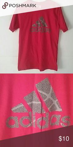 Adidas T Shirt Great condition! Red T Shirt adidas Shirts & Tops Tees - Short Sleeve