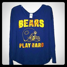 Victoria's Secret NFL Bears Shirt  Like new Chicago Bears long sleeved shirt from PINK by Victoria's Secret. 100% Modal. This material is super soft & lightweight. Worn once, great addition for a Bears fan! PINK Victoria's Secret Tops Tees - Long Sleeve