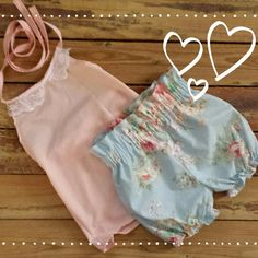 Halter Top and High Waisted Shorts Baby Toddler by LilLaineyBug