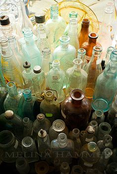Melina Hammer - beautiful translucent shades in vintage glass bottles...  http://www.melinaphotos.com/