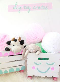 DIY Toy Almacenamiento Cajas Nursery