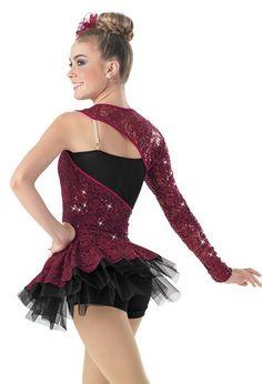 Sequin Lace Biketard with Side Bustle Solo Dance Costumes, Tap Costumes, Ballroom Dance Dresses, Dance Skirts, Shrug For Dresses, Cinderella Costume, Figure Skating Dresses, Dance Leotards, Dance Outfits