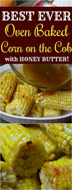 Oven Baked Corn, Oven Roasted Corn, Corn Oven, Baked Corn Recipes, Bbq Corn, Thanksgiving Side Dishes, Thanksgiving Recipes, Corn In The Oven, I Heart Recipes