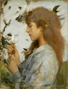 Edward Arthur Walton ~ The White Flower ~ (Scottish: 1860-1922)
