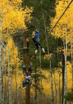 Soaring Treetop Adventures, Durango Colorado // Soar over the San Juan Mountains on 27 different zip lines that range from 56 to 1,400 feet in length.
