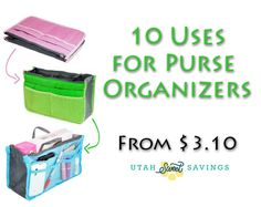 10 Uses for Foldable Purse Organizers! Multiple Colors from $3.10 Shipped!
