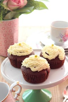 Schoko-Cupcakes mit Frischkäsecreme