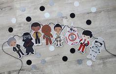 STAR WARS awakens garland Birthday Party Decorations Finn Kylo Ren Stormtrooper Party Decor Star Wars Baby Shower Decorations, banner