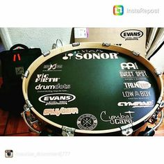 Awesome to see our name with such great companies gracing Sweet Spot Clutches artist  @maurice_drummer4j777 sweet bass drum head! #drumporn #hihatporn #drummerscorner #officialdg2g #drums #coolnessfordrums #modern_drummer #drummag #drumfam #royalnuts #180drums #bateria #baterista #customhihatclutch #drumtech by sweet_spot_clutches
