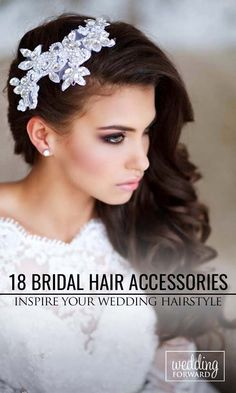 18 Bridal Hair Accessories To Inspire Your Hairstyle ❤ Hair accessories let you look chic from head to toe in an instant. See more: http://www.weddingforward.com/bridal-hair-accessories-to-inspire-hairstyle/ #wedding #bride #weddinghairstyles #bridalhairaccessories