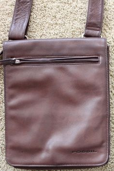 Fossil Brown Pebbled #leather Organizer Vertical Messenger CROSSbody bag visit our ebay store at  http://stores.ebay.com/esquirestore