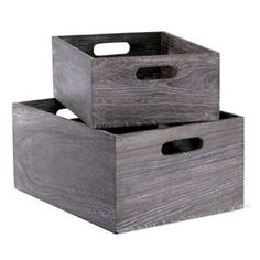 The Container Store > Feathergrain Wood Bins