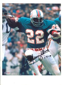 Autographed Mercury Morris Miami Dolphins 8x10 Photo