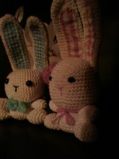Cute crocheted bunnies made by me