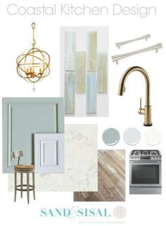 Coastal Design Board - Our classy and chic Coastal Kitchen Design Board is ready to be revealed! See the kitchen renovation progress and all the design features we have planned. Diy Projects Kitchen Cabinets, Kitchen Paint, Kitchen Decor, Kitchen Remodeling, Kitchen Ideas, Kitchen Inspiration, Remodeling Ideas, Kitchen Grey, Kitchen Tile