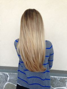 Awesome blonde ombré with long layers