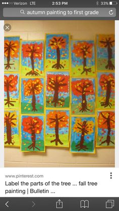 Fall Tree Painting, Autumn Trees, Ideas, Art, Fall Trees, Art Background, Kunst, Performing Arts, Thoughts