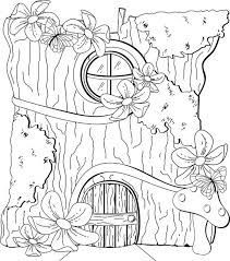 Image Result For Free Fairy Door Template Fairy Coloring Pages