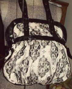Aldo Woman's Black Fleur Di Lis Large Satchel Handbag Shoulder Strap Hobo Purse   eBay