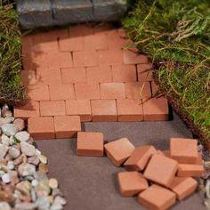 25 tiny triangular patio bricks ~ genuine kiln-fired ~ perfect for creating a…