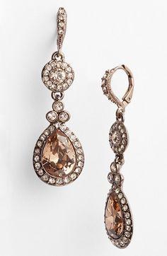 Givenchy Pavé Double Drop Earrings