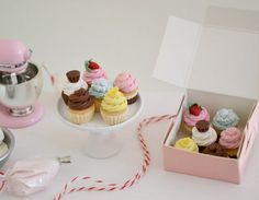 1:6 Play Scale Miniature Assorted Cupcakes by SweetPetiteShoppe