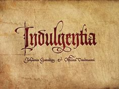 Indulgentia designed by Anton Mizinov. Calligraphy Drawing, Calligraphy Words, How To Write Calligraphy, Typography Love, Typography Letters, Typography Prints, Doodle Lettering, Hand Lettering, Caligraphy Alphabet