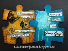 Claudine's Art Corner: Altered Puzzle Challenge Week 9