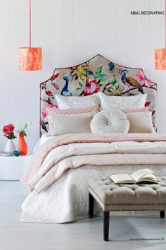 Want more fancy bed heads? Click here - http://dropdeadgorgeousdaily.com/2013/07/diy-headboards-to-make-your-head-spin/
