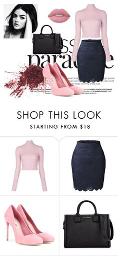 """""""Untitled #31"""" by lovee-green ❤ liked on Polyvore featuring A.L.C., LE3NO, Miu Miu, Karl Lagerfeld and Lime Crime"""