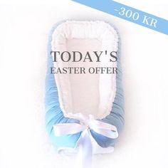 "-300 KR  NEW BABYNEST OFFER EVERY DAY  BABYNEST.NO — TODAY'S EASTER EGG  Babynest Luxury Blue & Babynest Frøya Limited  From kr 799,- (tomorrow 1199,-)  For Norway: FRI FRAKT hele påsken med koden ""FRIFRAKT"""