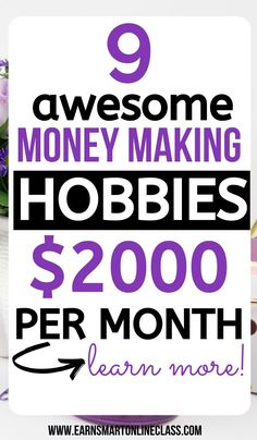 Jobs From Home Discover 15 Hobbies That Make Money in 2020 Are you looking for money making hobbies? Here is a list of 15 awesome hobbies that make money from the comfort of your home. See a profitable hobbies list! Hobbies That Make Money, Make Money Fast, Earn Money From Home, Earn Money Online, Online Jobs, Online Income, Making Money From Home, Money Saving Tips, Money Tips