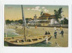 Cranz, Kr. Samland, Segelboot am Strand vor dem Hotel Monopol  - Last changed: 2012-10-17