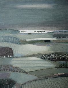 A grey sky morning, Rob van Hoek Landscapes Landscape Quilts, Abstract Landscape, Landscape Paintings, Gravure Illustration, Illustration Art, Wow Art, Country Art, Paintings I Love, Naive Art